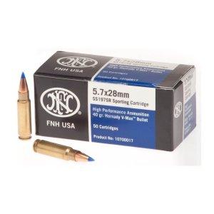 FN 5.7x28 ammo 40-Grain V-Max Cartridges 500 Rounds