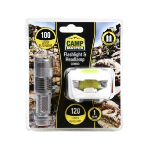 CAMPMASTER Flashlight & Headlamp Combo