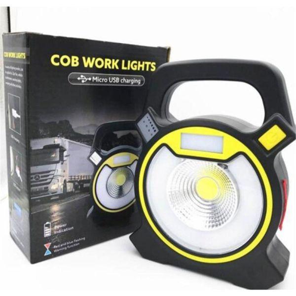 Cob Solar & USB Rechargeable Light