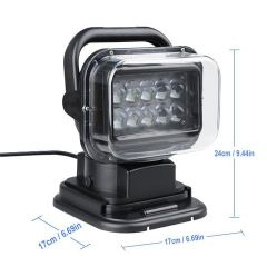 50W LED SEARCH LIGHT 12V – 360 DEGREE WITH WIRELESS REMOTE CONTROL