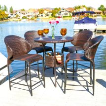 3 Bar Height Patio Dining Sets Enjoy - Outdoor