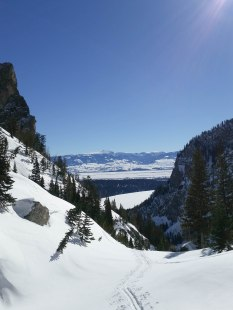 Looking down Death Canyon.