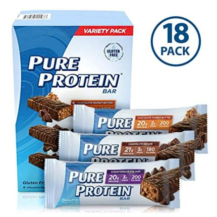 Pure Protein Bar Variety Pack: 18 Count, 1.76 oz Protein Bars