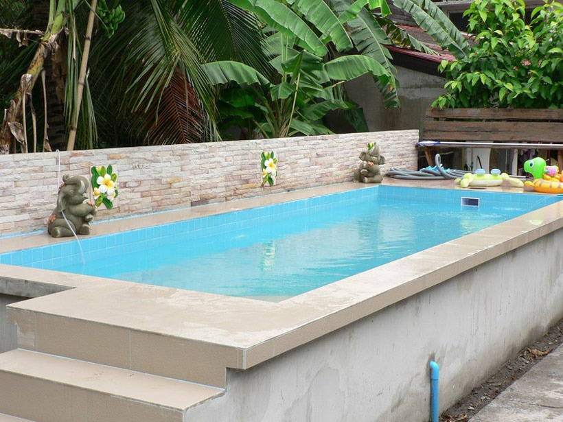 Great The Fountain Edge Is A Great Way Of Beautifying The Hard Exposed Edge Of  The Pool. Designs Like This Make You Realise Just How Beautiful Above  Ground Pools ...