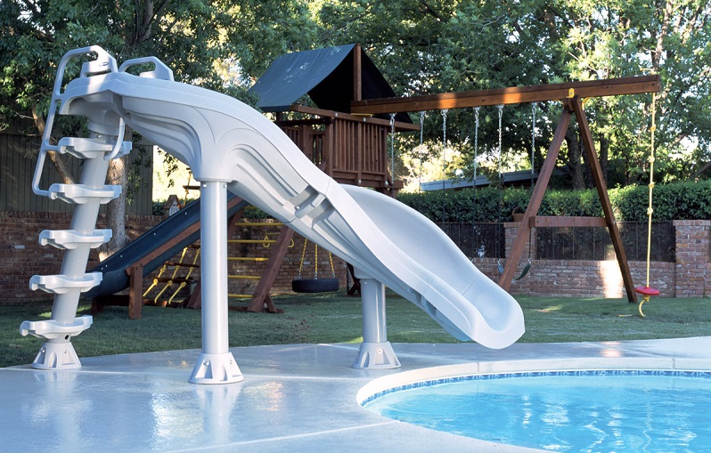 Top 5 best pool slides for backyard water fun outdoor chief for Swimming pool water slide parts