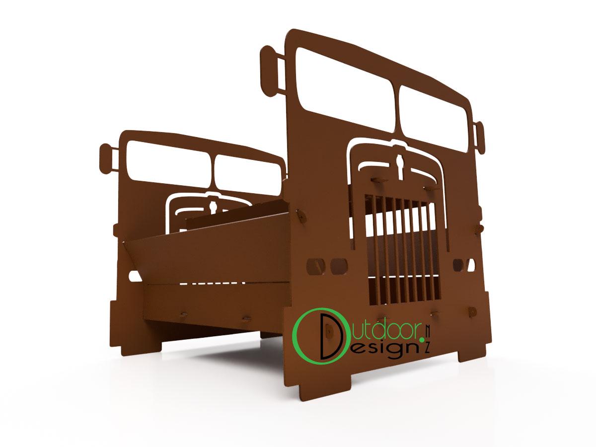 Flat Nose Truck Fire Pit Brazier Outdoor Design New Zealand