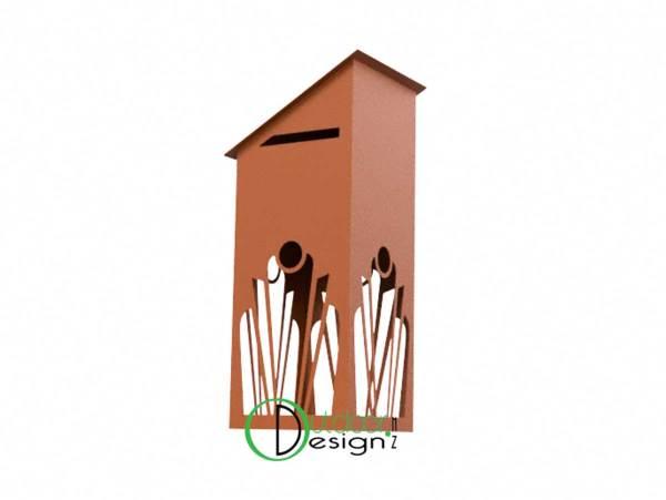 Patina weathering steel exterior design features NZ