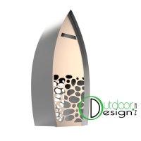 Stone stack Mail box letterbox new zealand corten steel metal