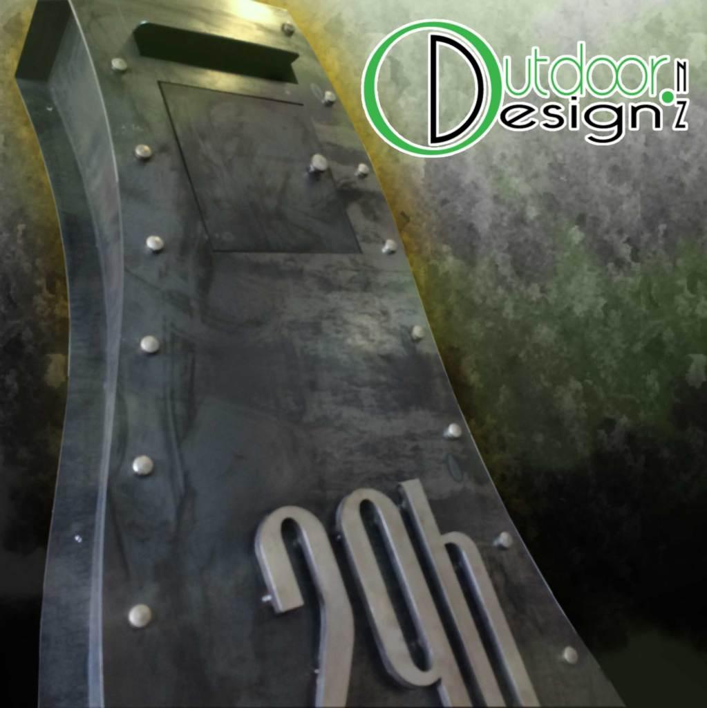 designer mail box new zealand corten steel