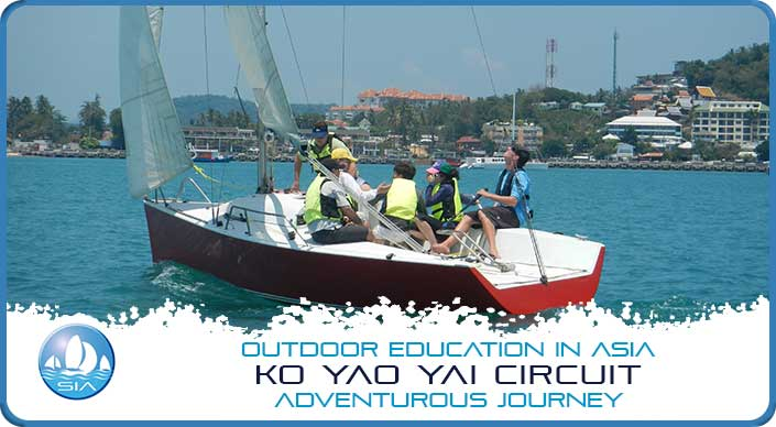 Learning to sail on the Koh Yao Yai Adventurous Journey