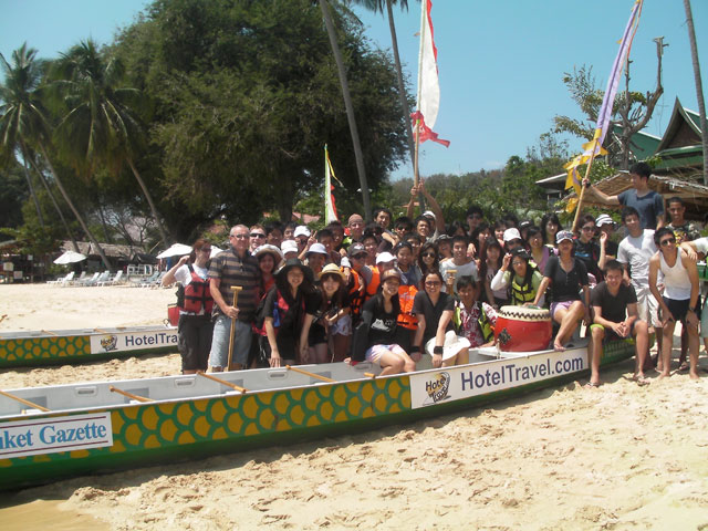 school bbq and dragon boat event