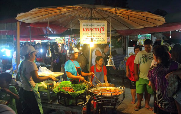 Great food at night market