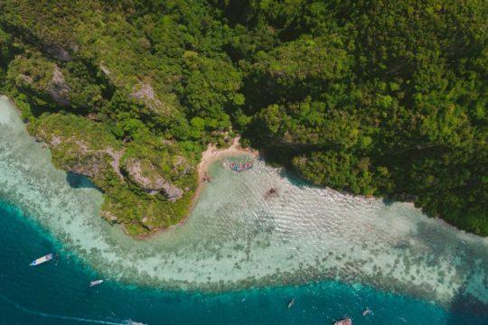 The coastline of Krabi