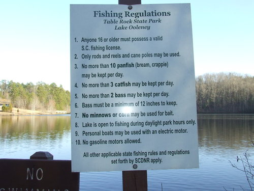 South Carolina fishing regulation board