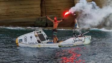 Chris Bertis Became The First Man To Cross The Atlantic Ocean Using SUP 1