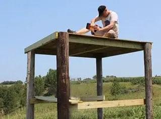 Diy How To Build A Deer Blind Easy Step By Step