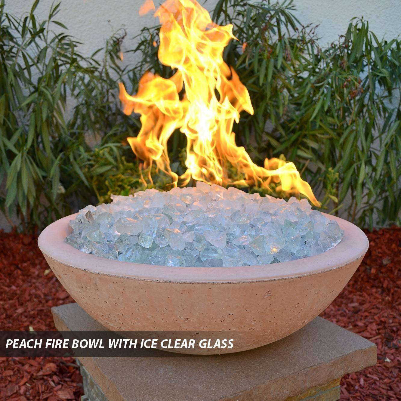 Concrete Pool Fire Bowl Round with Scupper 39  Pool Fire