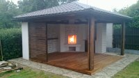 The Fireplace With The Pavilion-Hipped Roof | OUTDOOR ...