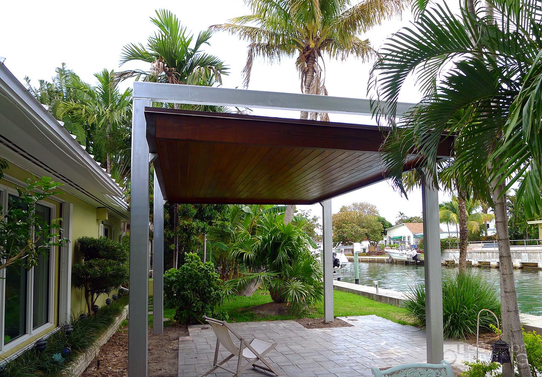 Free Standing Modern Pergola OUTDOOR LIVING FLORIDA