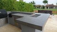 Firepits built into Concrete Counter tops in Outdoor ...
