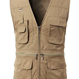 H2H Mens Fashion Casual Work Utility Hunting Travels Sports Vest with Multiple Pockets