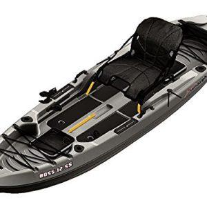 Sun Dolphin Boss SS Sit-On/Stand On Top Angler Kayak (Gray, 12.3-Feet)