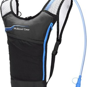 Mubasel Gear Hydration Backpack Pack With 2L BPA FREE Bladder - Lightweight Pack Keeps Liquid Cool Up to 4 Hours - Great Storage Compartments - Outdoor Sports Gear for Running Hiking Cycling Skiing
