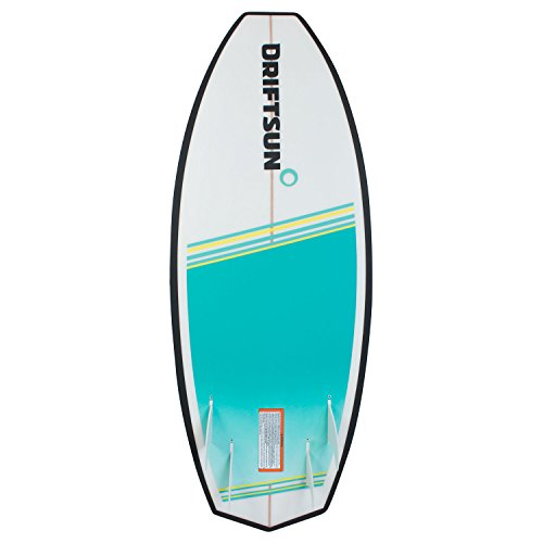 "Driftsun Throwdown Wakesurf Board - 4' 8"" Custom Surf Style Wakesurfer BOARD STYLE - 4' 8"" Surf Style Wakesurf Board for Beginner and Intermediate Riders (Advanced riders with tweaked balance set up)