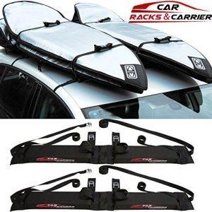 Car Rack & Carriers Double Surfboard Car Rooftop Rack, 2 Surfboard Soft Wrap Roof Racks Rax any Car, SUV, Minivan Van Sedan