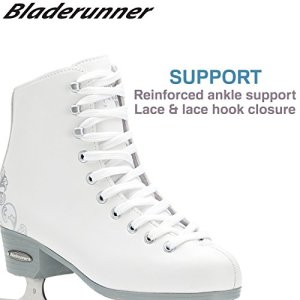 Bladerunner Ice by Rollerblade Allure Girls Figure Skate, White, Ice Skates