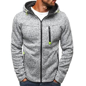 Mens Outdoor Lightweight Zip-up Hooded Sweatshirt