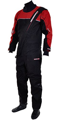 Crewsaver Cirrus Drysuit Including UnderFleece & Dry Bag in Black/RED