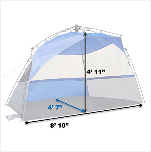 Lightspeed Outdoors XL Sport Shelter Instant Pop Up Easy all over licensed center point framework makes this cool cabana as invigorating as a delicate pacific breeze with greatest UPF 50+ sun protection