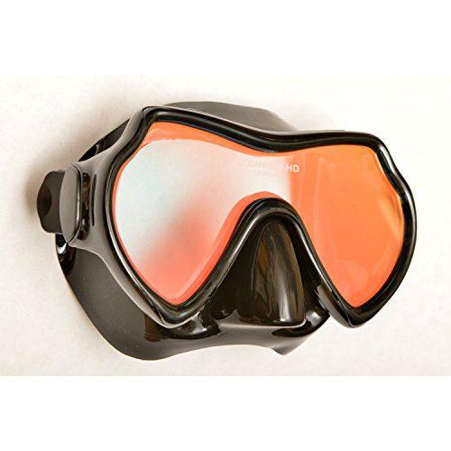 Oceanways Superview-HD w/ Anti-UV/Glare Optical Multicoating w/Anti-Fog Scuba/Spearfishing Dive Mask (OM940BKSFF) by SeaDive