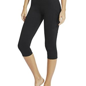 "Baleaf Women's Yoga Workout Capris Leggings Side Pocket for 5.5"" Mobile Phone"
