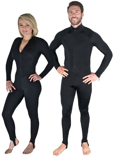 Storm Black Lycra Dive Skin for Scuba Diving, Snorkeling and Water Sports