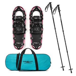Lucky Bums Youth and Adult Snowshoes with Trekking Poles