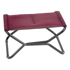 Lafuma Next Air Comfort Folding Footrest/Stool - Black Steel Frame with Air Comfort® Fabric - Bordeaux