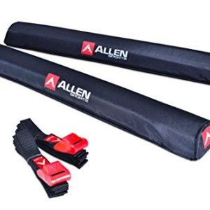 Allen Sports 24 inch Aero Roof Rack Pads with 8 ft Straps Set for Surfboards SUP Snowboard