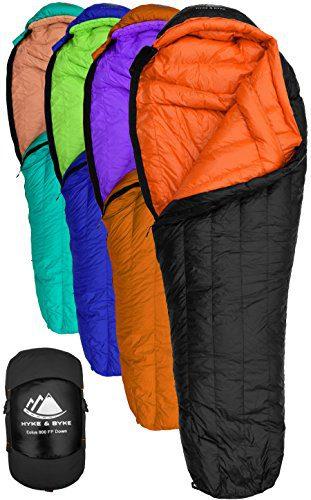 Goose Down Sleeping Bag for Backpacking – Eolus 15 & 30 Degree F 800 Fill Power Ultralight