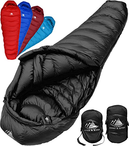 Quandary 15 Degree F Ultralight, Ultra Compact Down Filled 3 Season Men's and Women's