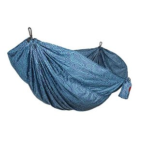 Grand Trunk Double Parachute Nylon Print Hammock with Carabiners and Hanging Kit