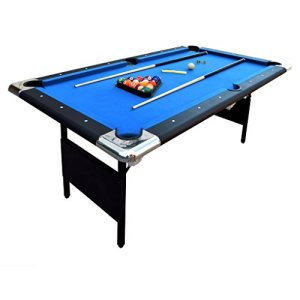 Hathaway Fairmont Portable 6-Ft Pool Table for Families with Easy Folding for Storage, Includes Balls, Cues, Chalk