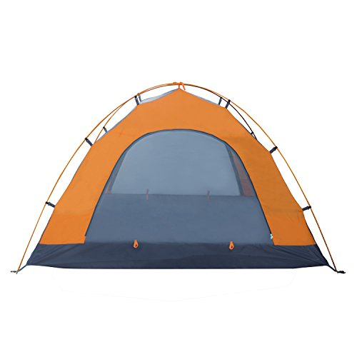 Winterial 3 Person Tent, Easy Setup Lightweight Camping and Backpacking 3 Season Tent FEATURES include: Rain Fly Vented Roof ,Two Durable ALUMINUM Tipped Tent Poles Screen and Solid Zippered Doors  EASILY holds 3 individuals. Tantamount to Coleman and Alps Mountaineering  4 Metal Stakes; Open Dimensions: 82 x 64 x 46 inches, Pack Dimensions: 23.8 x 4.4 x 4.1 inches/4.4lbs  PERFECT for any outside outing, lightweight and is exceptionally reduced when folded  GREAT 3 man exploring tent that can be effortlessly pressed for your trip!