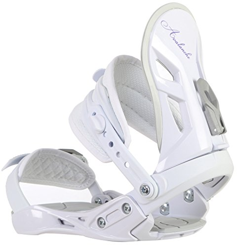 Avalanche Serenity Snowboard Bindings Womens Baseplate: Anatomical baseplate with 2 x 2 screw inserts  Die-cut EVA toe and foot rear area slope pads  Straps: Adjustable toe and lower leg straps  Heat-formed EVA lower leg straps  Highback: Ultra-light EVA cushioned highback