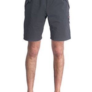 MIERSPORTS Lightweight Men's Cargo Shorts Water Resistant Outdoor Shorts with 4 Zip-closed Pockets
