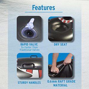 GoFloats Winter Snow Tube - The Ultimate Sled (Choose from Unicorn, Ice Dragon, Polar Bear, Penguin, Flamingo)