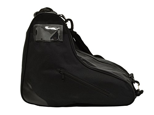 Epic Skates Premium Skate Bag, Black The Epic Skates premium roller skate pack is made of strong, tear-safe material with strengthened seams  Two-side pockets to store your assets with uncompromising zipper for the extensive primary compartment  Top handle and a removable, cushioned shoulder lash that is movable to enable you to convey your skates to and from the skating arena or park  Plastic ID card holder to distinguish your property easily  Skate pack measuring: Fits most quad skates; including every single Epic Skate quad skates. The sack does not fit inline skates.