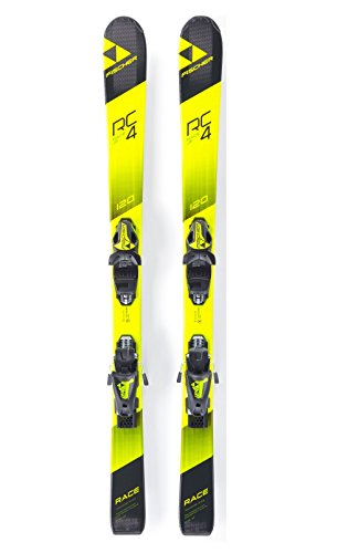Fischer RC4 Race Jr. Skis + FJ AC Bindings - 2018