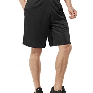 Tesla Mens Quick Dry Active Shorts Sports Performance HyperDri II With Pockets MBS02/MBS01